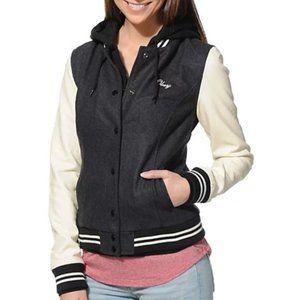 Obey The Varsity Hooded Jacket - Size Large